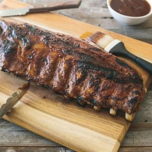 (gluten-free, paleo) Barbecue Ribs with Spiced Rum Pineapple Sauce