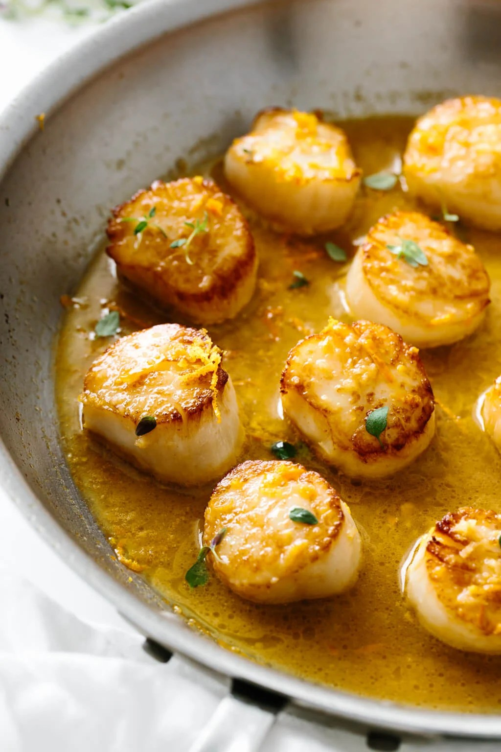 Scallops With Citrus Ginger Sauce
