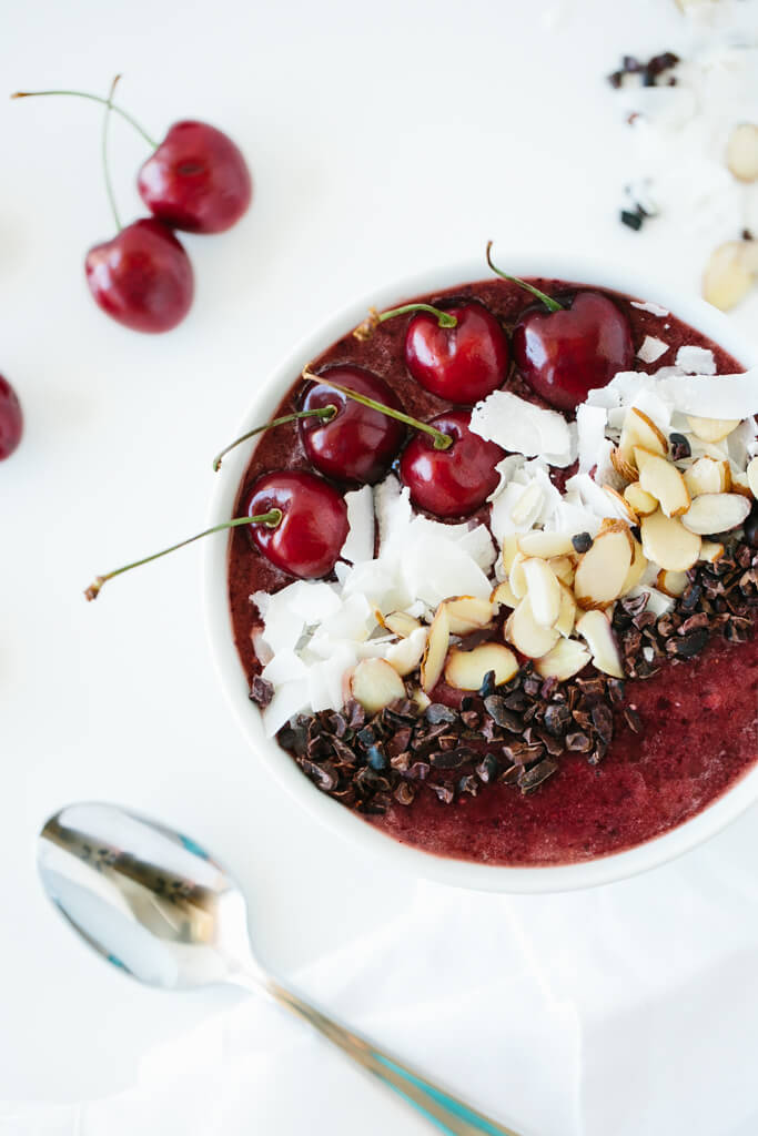 dark cherry smoothie bowl