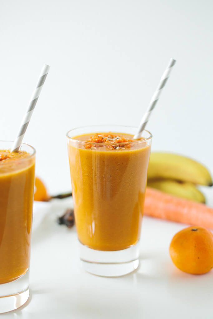 golden beet, carrot and turmeric smoothie