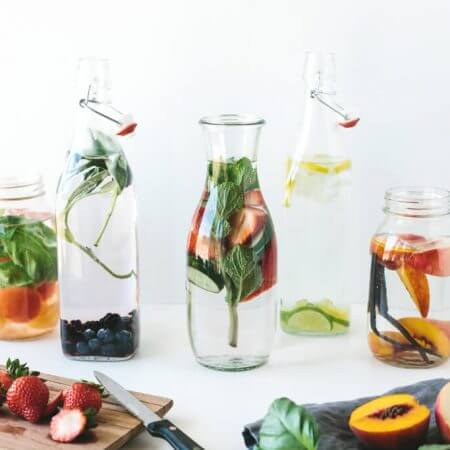 Learn how to make infused water that's naturally flavored with fruit, herbs and vegetables.