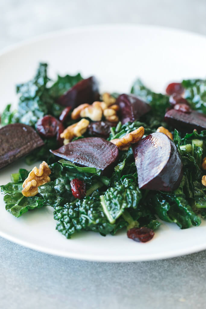 roasted beet and kale salad