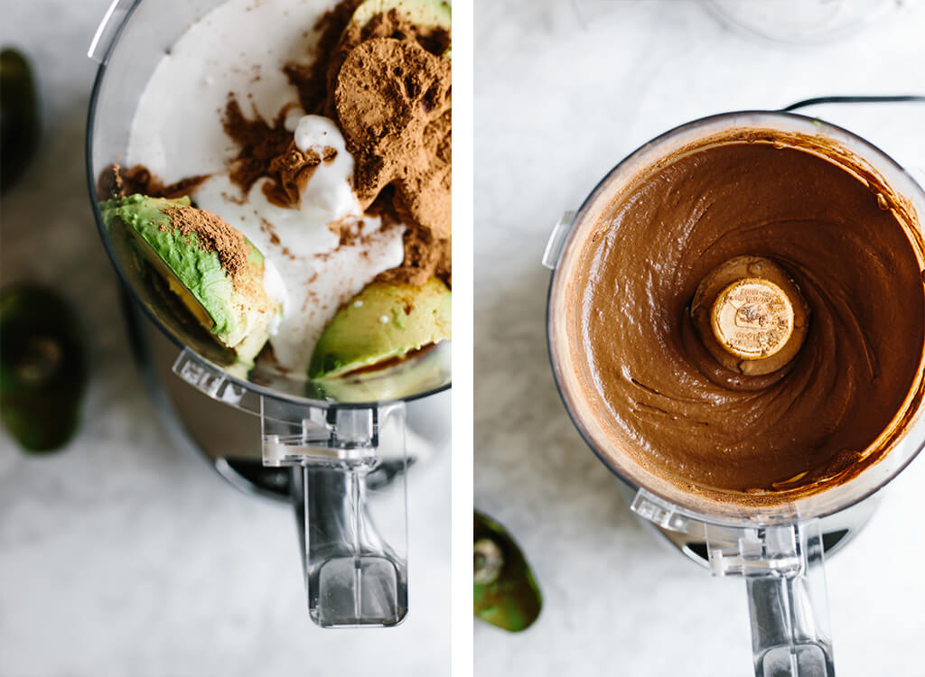 Chocolate avocado pudding is a decadent, creamy, healthy dessert made with avocados and raw cacao powder. It's also dairy-free, vegan and paleo. I've sprinkled this version with hazelnuts and sea salt, but the toppings are endless!