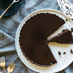 (gluten-free, paleo) Chocolate Truffle Tart. A rich, creamy and decadent chocolate dessert.