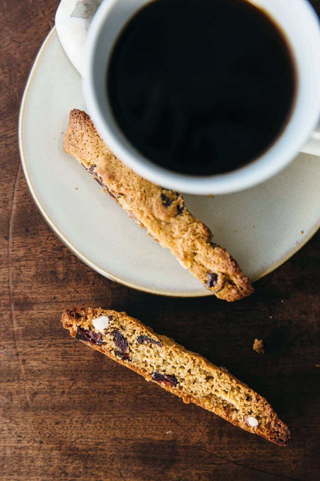 Cranberry almond biscotti. Gluten-free, grain-free and paleo.