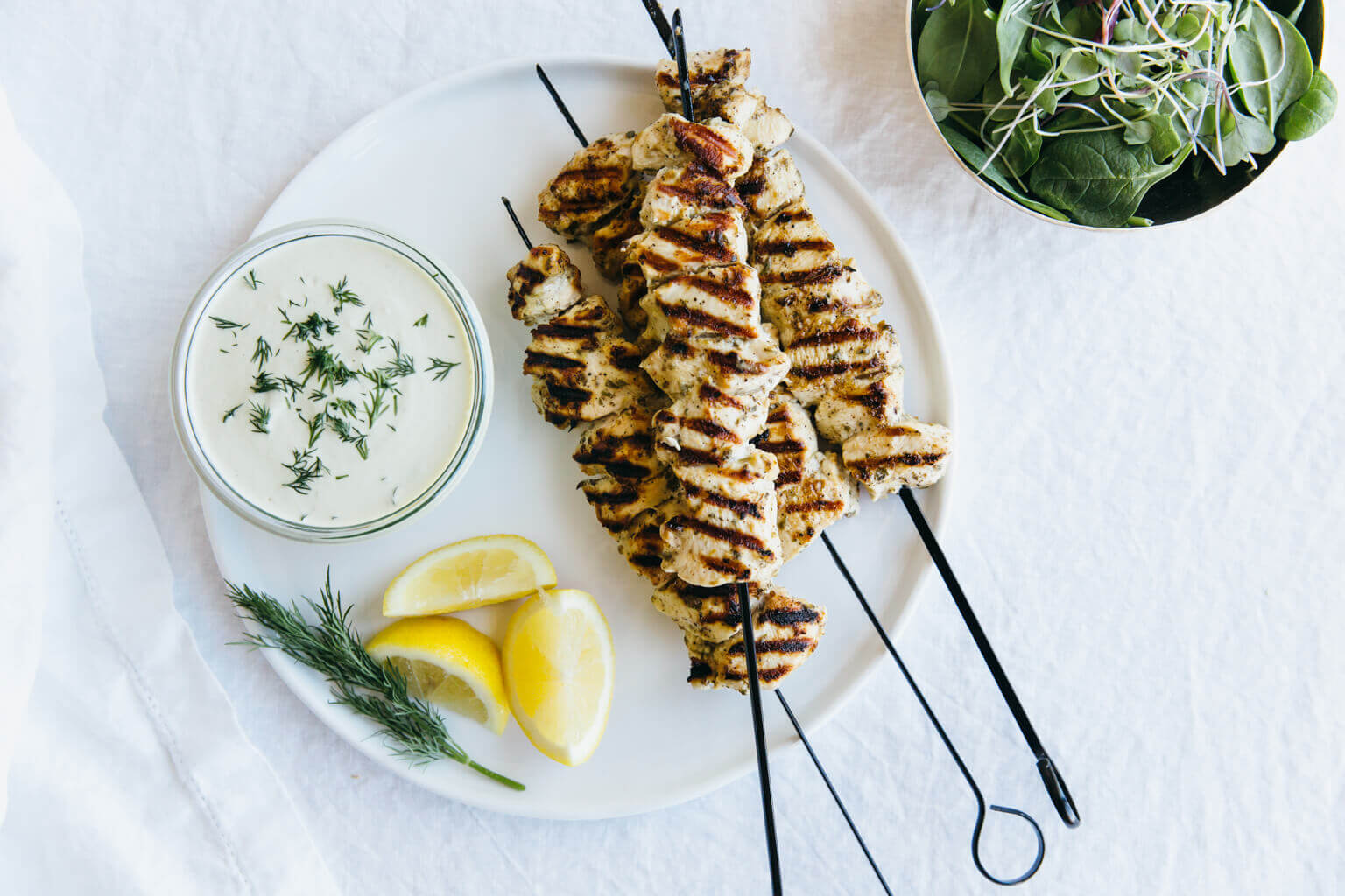 Grilled Chicken Souvlaki With Dairy Free Tzatziki Downshiftology