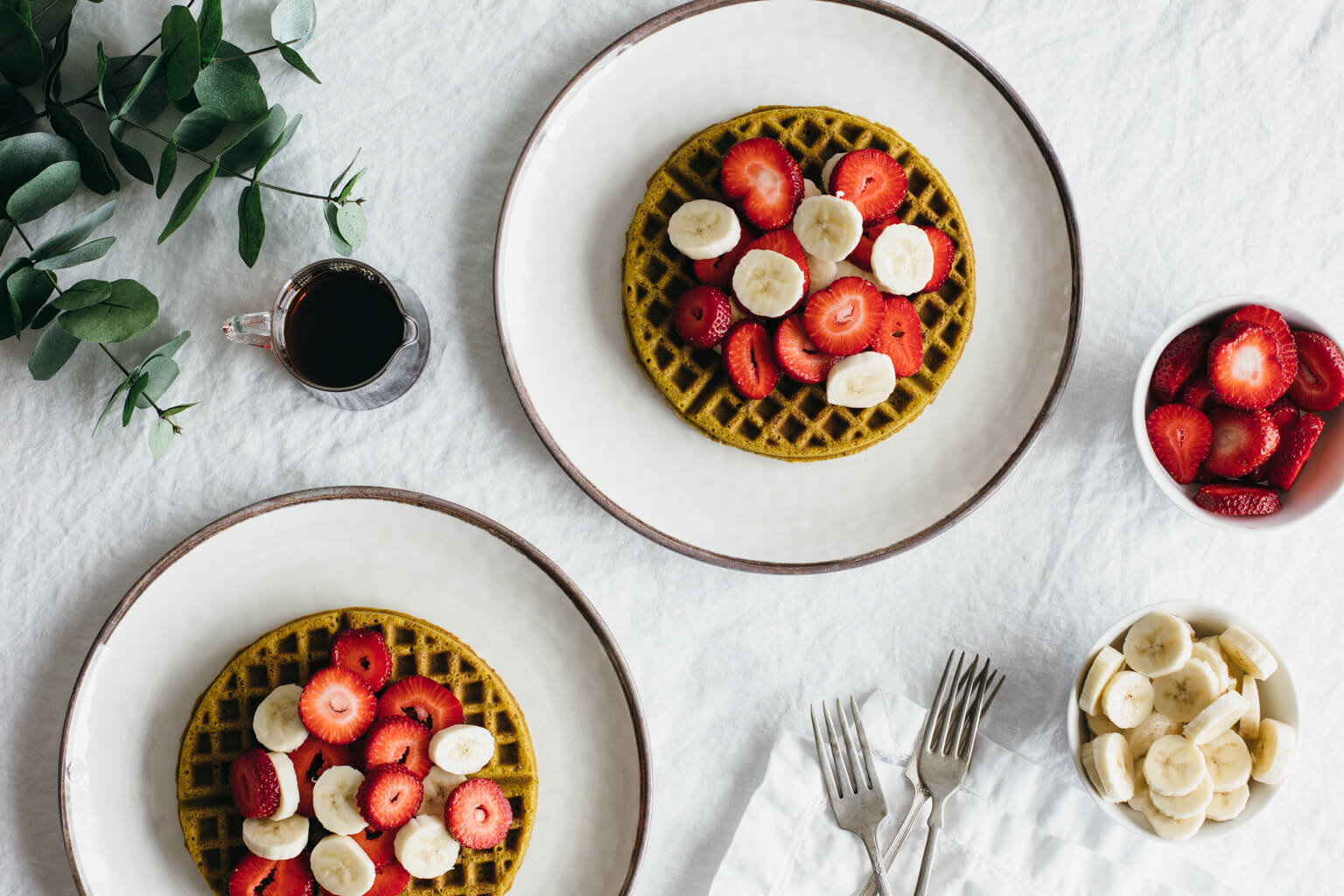 Super seed buckwheat waffles. Gluten-free and vegan.