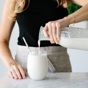 Cashew milk is a delicious and creamy dairy-free vegan nut milk. And unlike almond milk, it doesn't have to be strained, which makes it even easier!