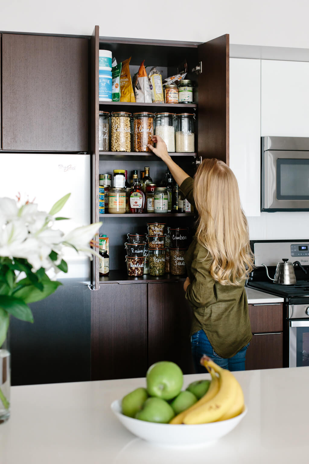 Pantry organization ideas - I've got several tips for creating a healthy pantry and moving all your storage containers to glass jars.