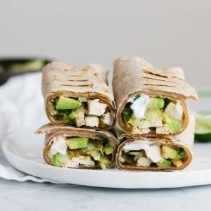 (gluten-free, paleo) These chicken and avocado burritos are simple, healthy and bursting with flavor!