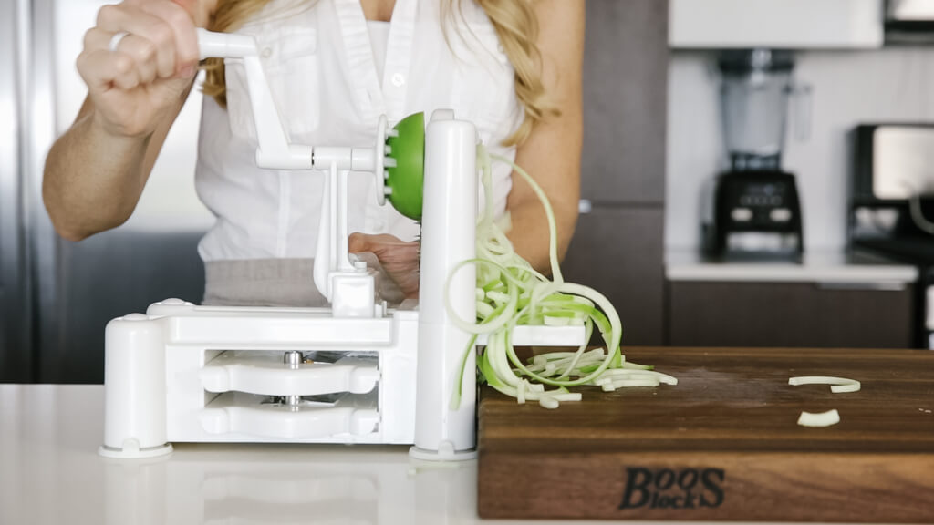 The spiralizer is one of my favorite kitchen tools. So today I'm sharing my favorite vegetables to spiralize along with veggie spiralizer tips and recipes. Learn how to spiralize apple.