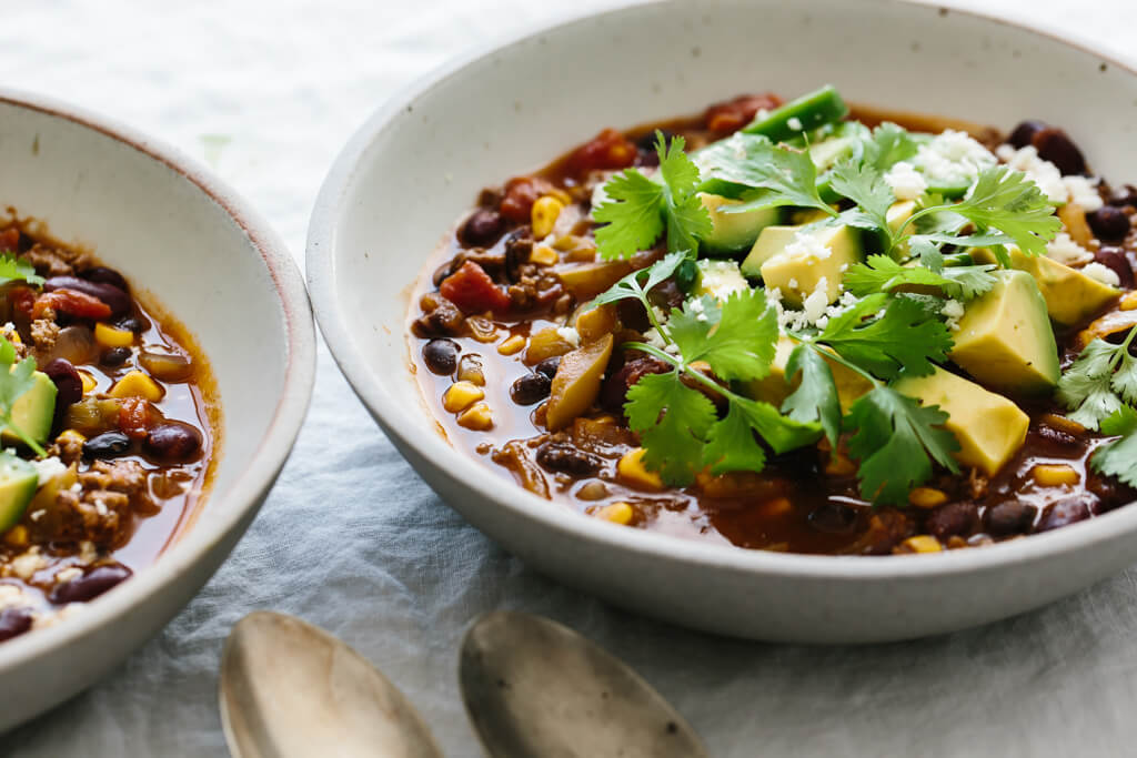Taco soup is guaranteed to be a family favorite. It's healthy, incredibly easy (only takes 30 minutes) and naturally gluten-free. The perfect healthy dinner!