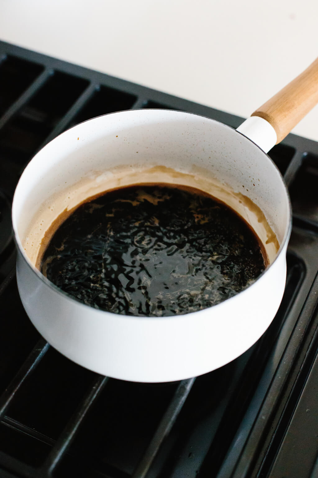 It's easy to make balsamic reduction (balsamic glaze) at home. It just takes one ingredient and 15 minutes!
