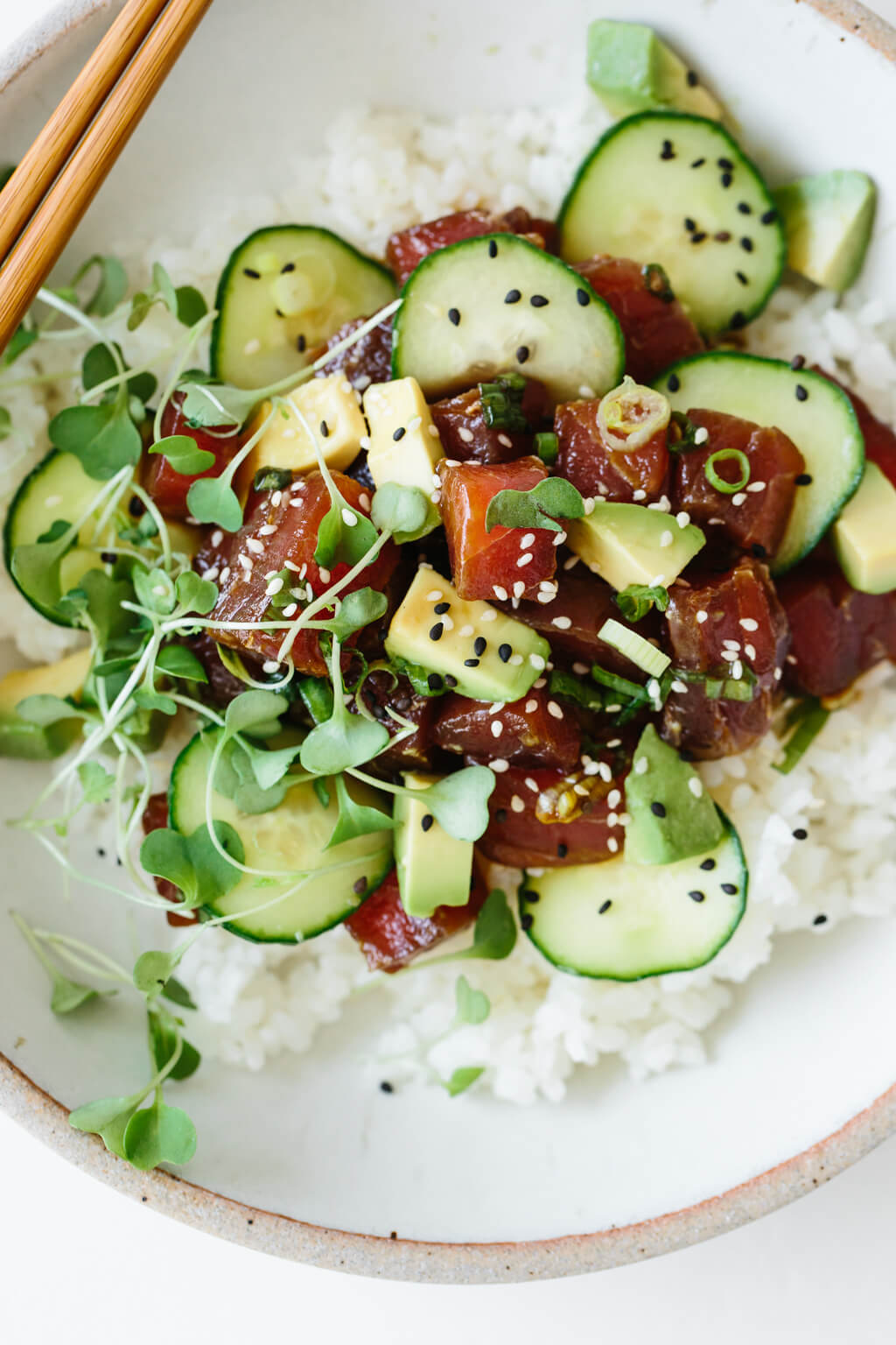 Ahi Tuna Poke Bowl Downshiftology