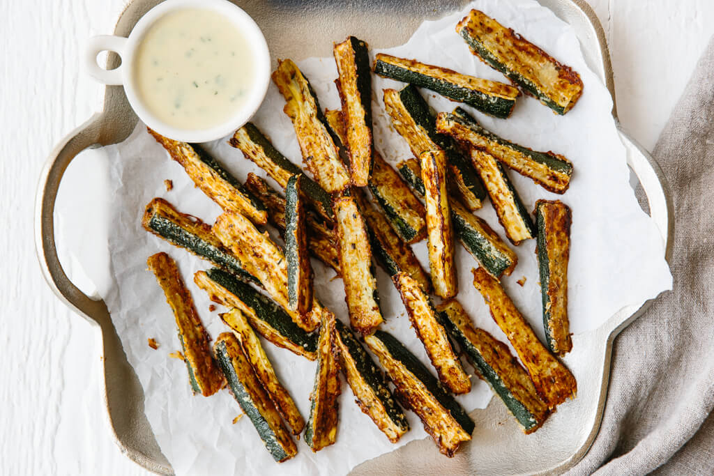 Baked Zucchini Fries (gluten-free, low carb, keto)