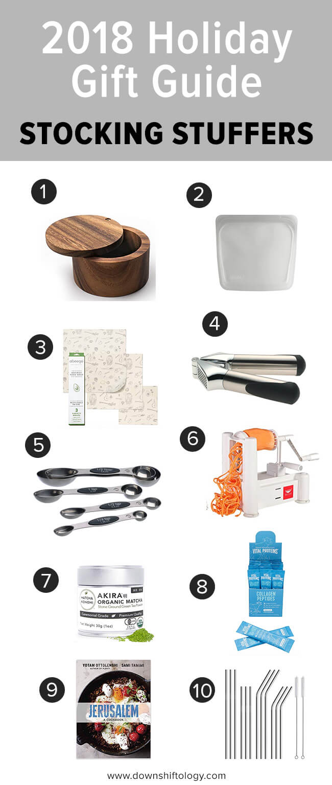 2018 holiday gift guide. Stocking stuffers with kitchen items.