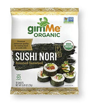 Whole30 Snacks: GimMe Organic Sushi Nori Sheets