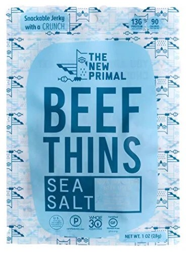Whole30 Snacks: New Primal Beef Thins