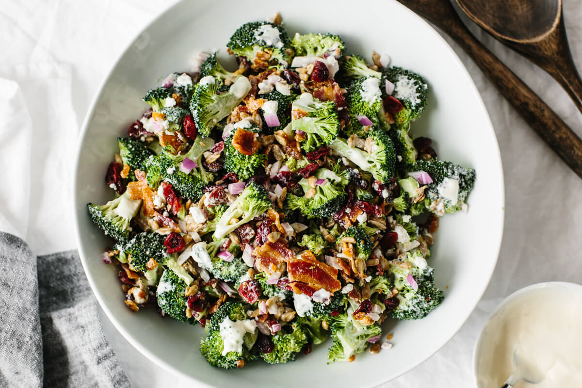 Best Broccoli Salad Recipe Downshiftology