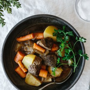 Lamb stew is a hearty, flavorful and melt-in-your mouth traditional Irish stew. A combination of tender lamb, potatoes, carrots, turnip and onion, this easy and delicious stew is nourishing during the fall and winter months. It's also a festive St. Patrick's Day recipe and gluten-free, paleo and Whole30.