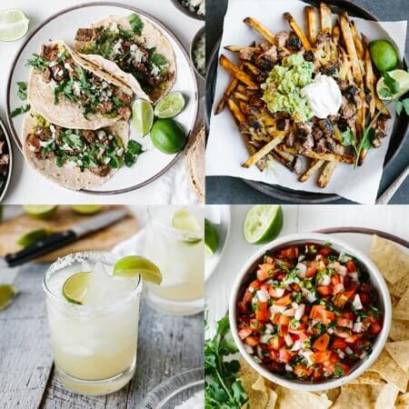 Four different healthy Mexican recipes
