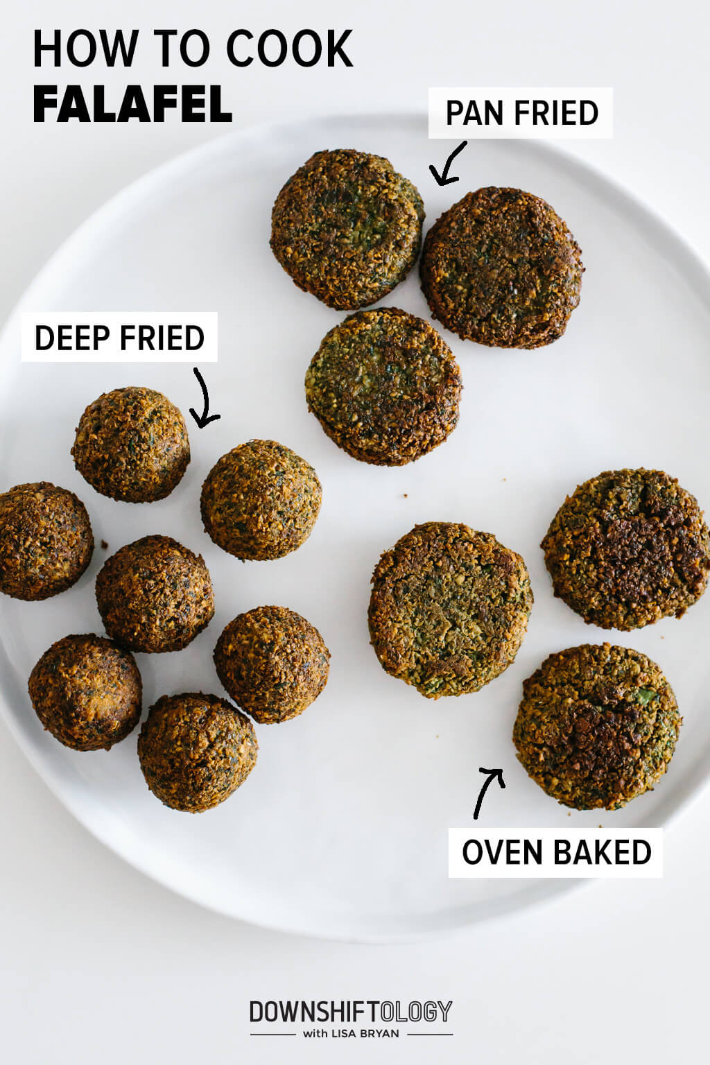 How to cook falafel three different ways, deep fried, pan fried and baked.