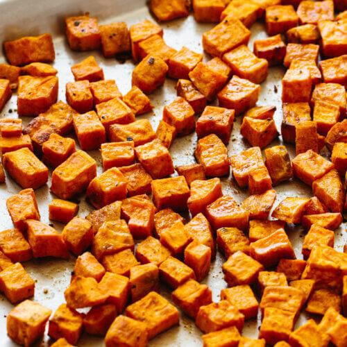 Roasted Sweet Potatoes Perfectly Seasoned Downshiftology