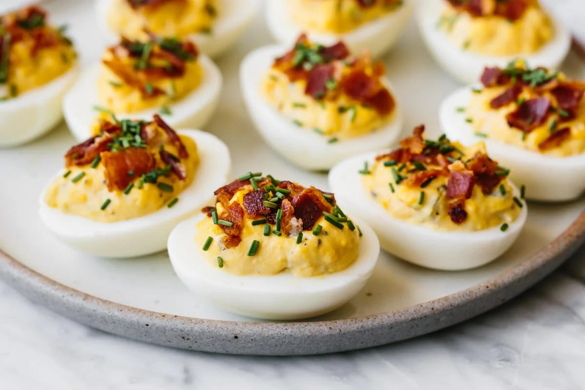 Bacon Deviled Eggs How To Make Deviled Eggs With Bacon Downshiftology