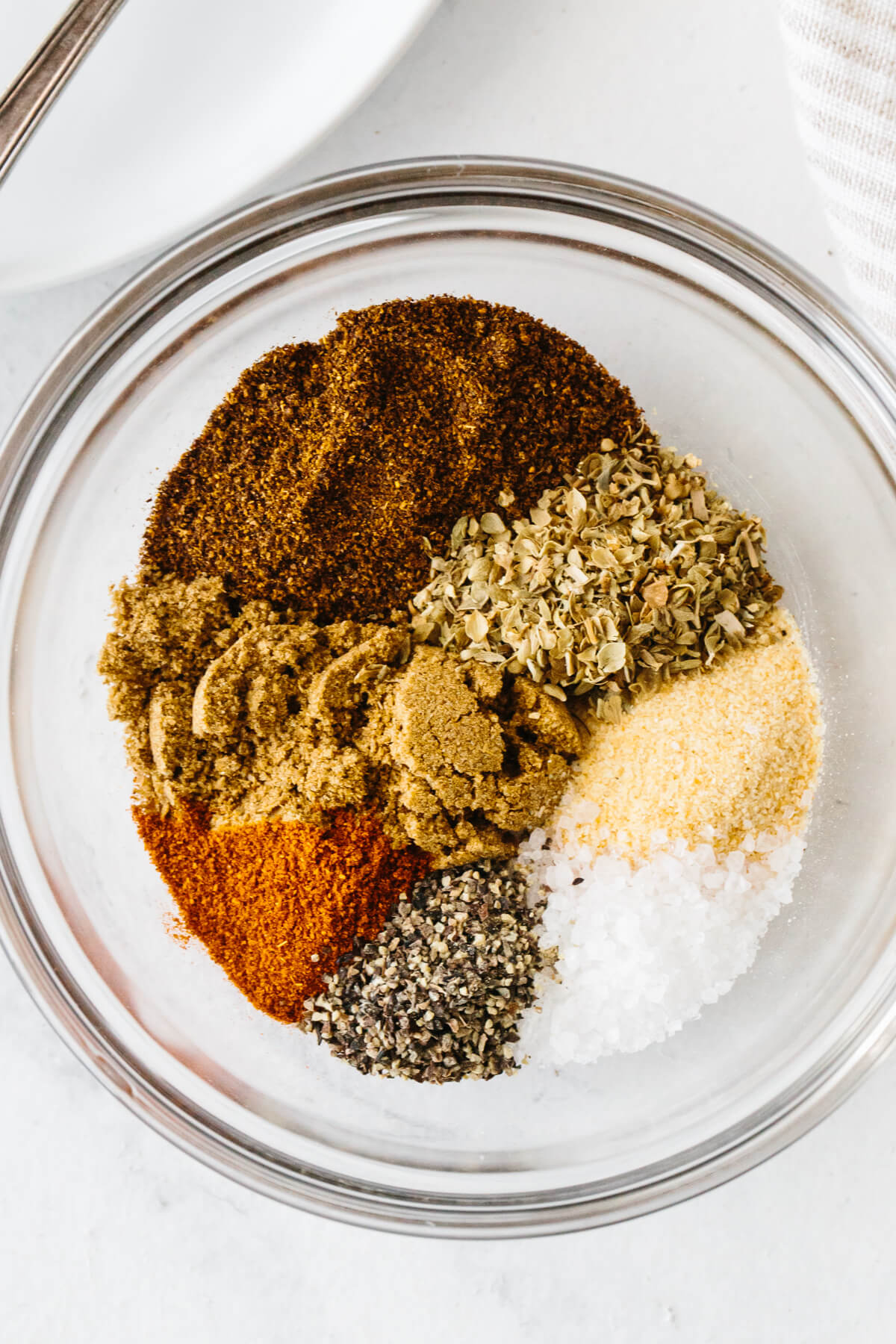 Fajita seasoning ingredients in a bowl.