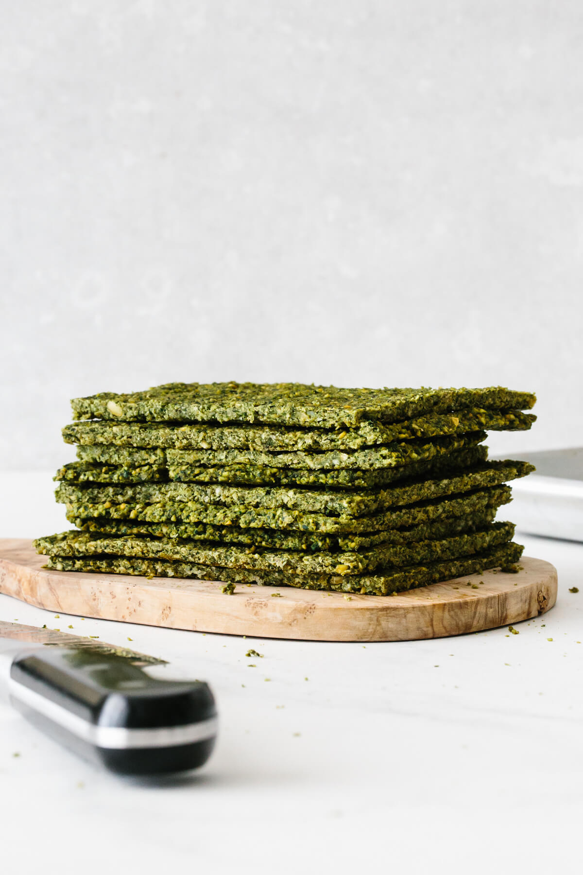 A stack of falafel flatbread.