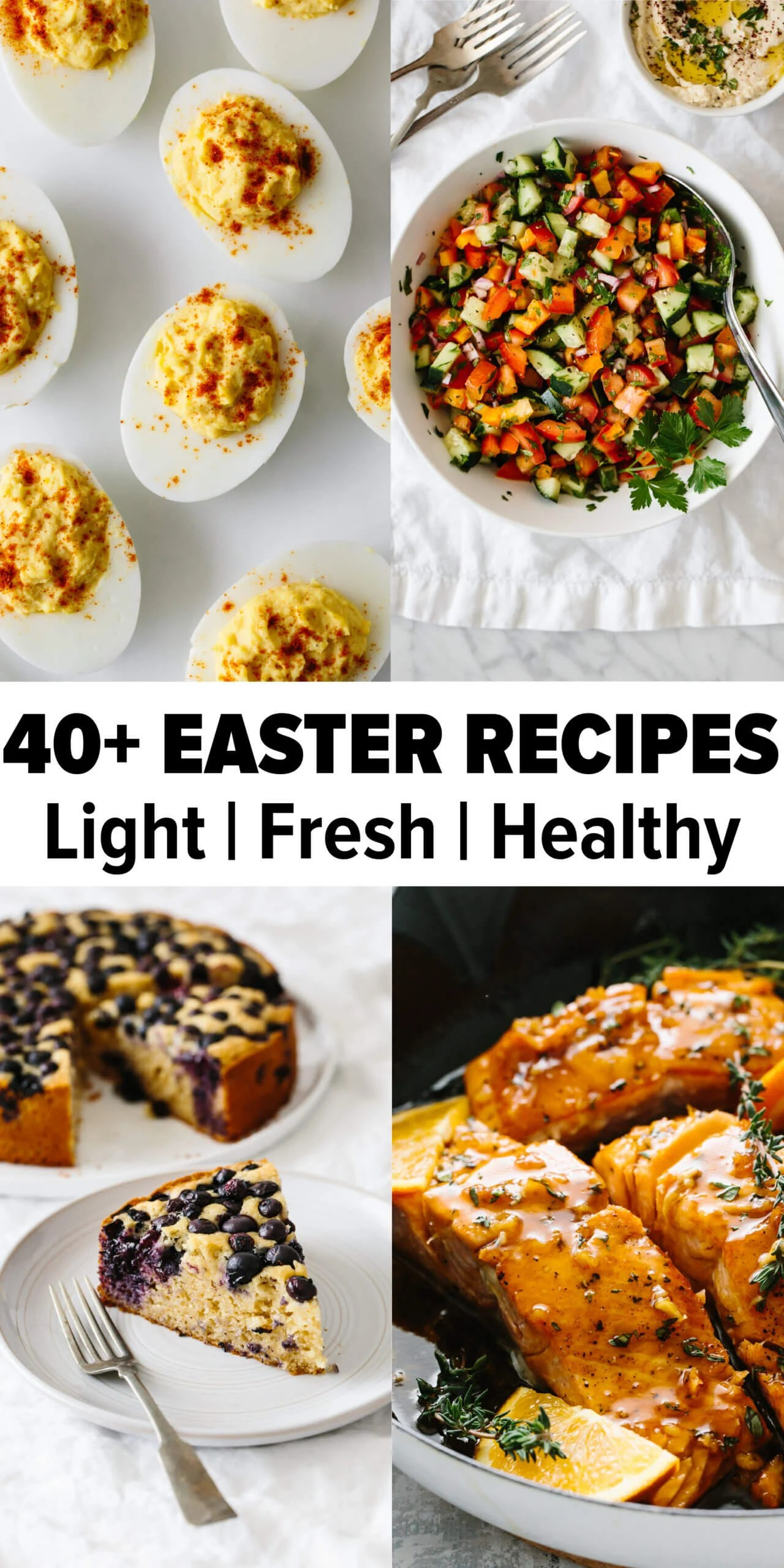 An assortment of Easter recipes.