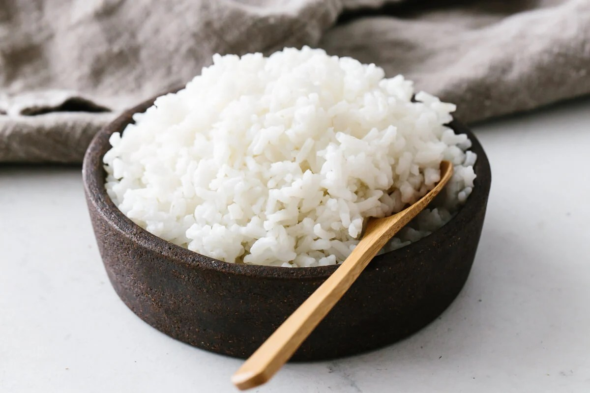 Fluffy, perfectly cooked rice in a bowl.