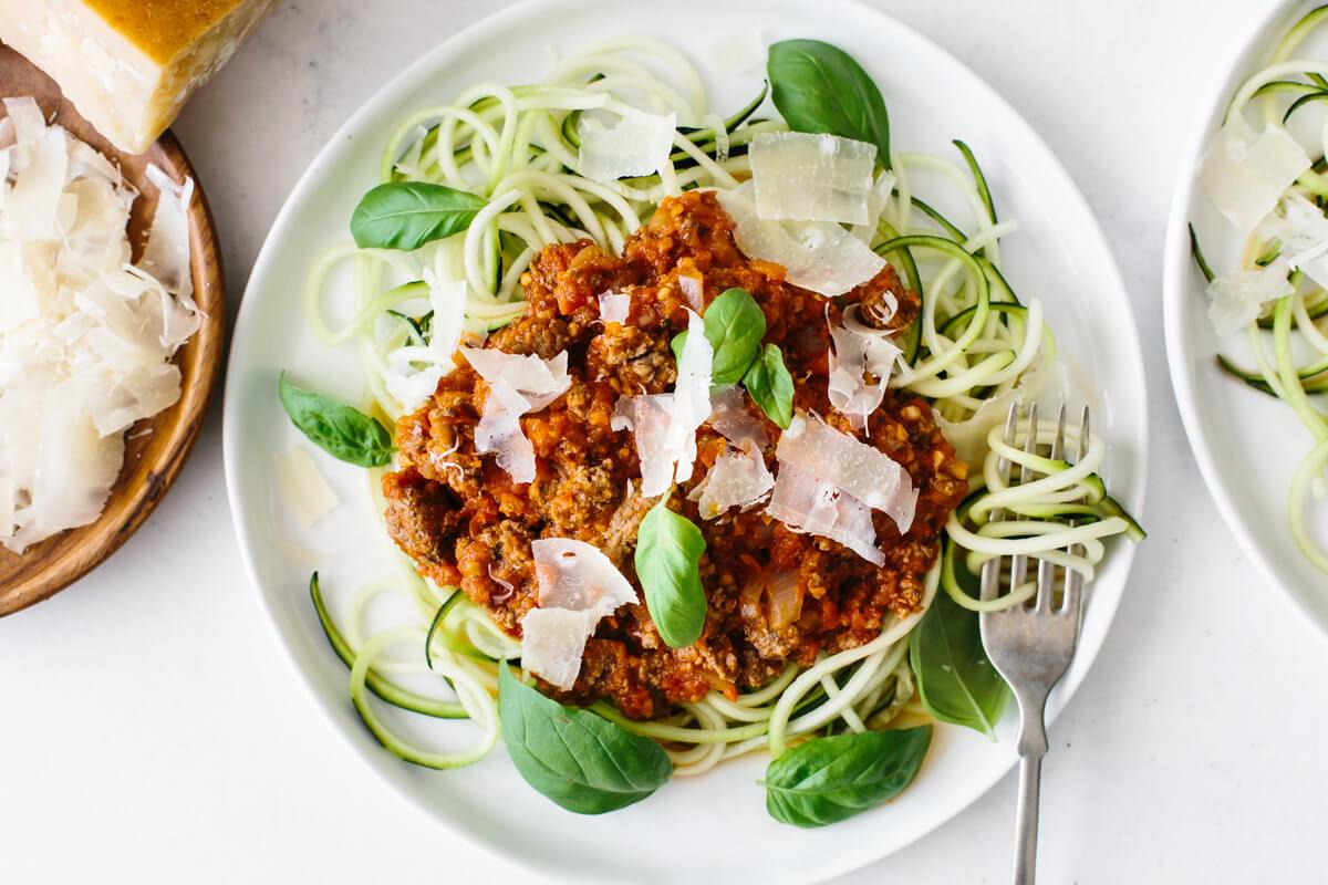 Photo of Zucchini Noodle Spaghetti Bolognese