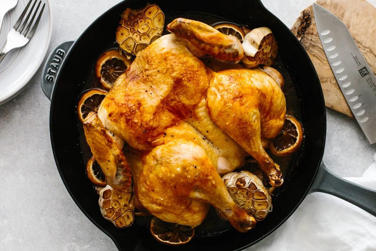 Lemon Garlic Spatchcock Chicken Downshiftology