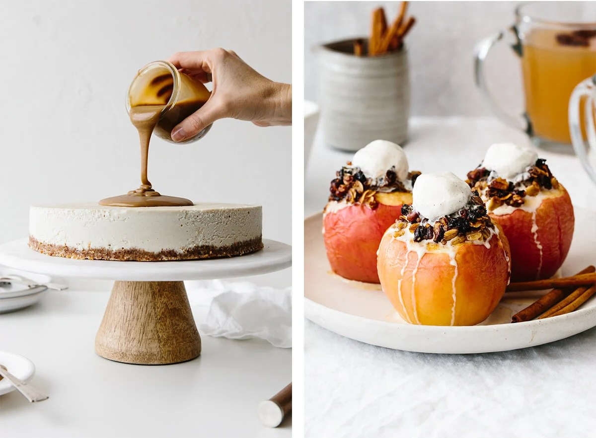 Thanksgiving desserts side by side.