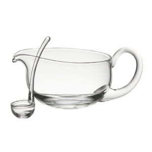 Glass gravy boat.