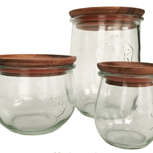 Weck jar wood lids.