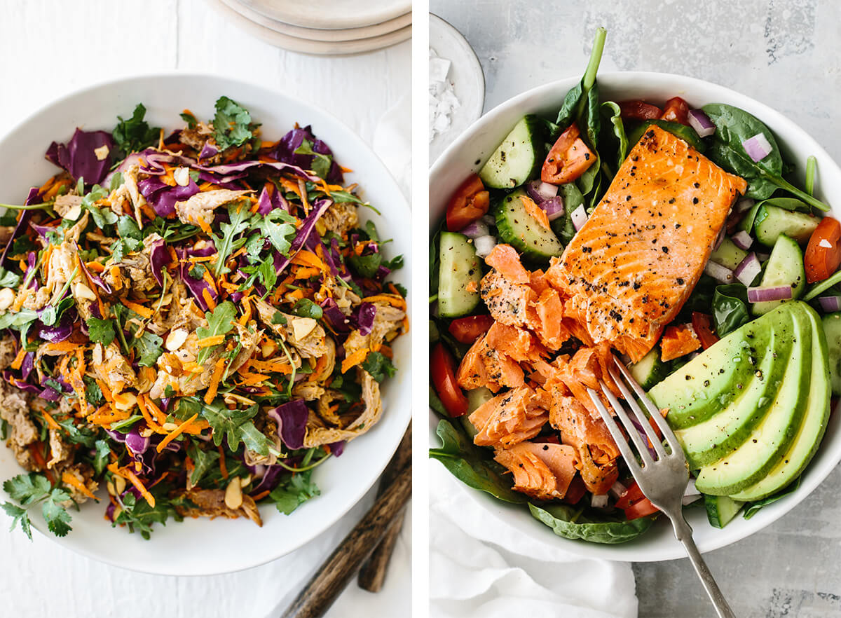 Whole30 salads for lunch.