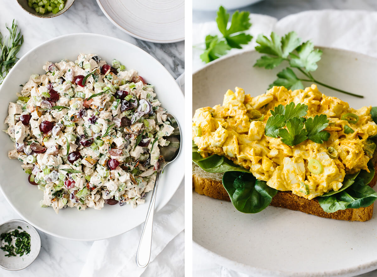 Whole30 chicken salad and egg salad for lunch.