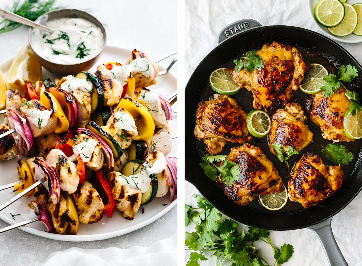 chicken kabobs and cilantro lime chicken for chicken dinner ideas.