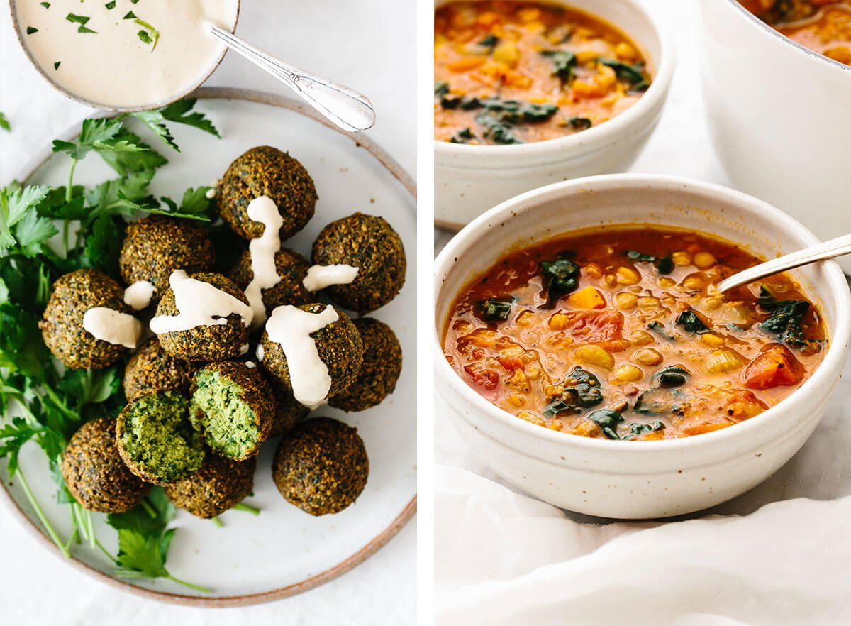 falafel and lentil soup for easy dinner ideas.