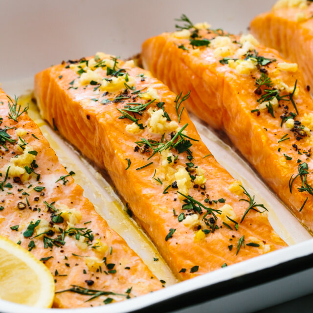 Healthy Baked Salmon
