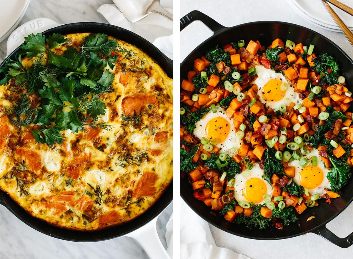 Best breakfast ideas with frittata and hash.
