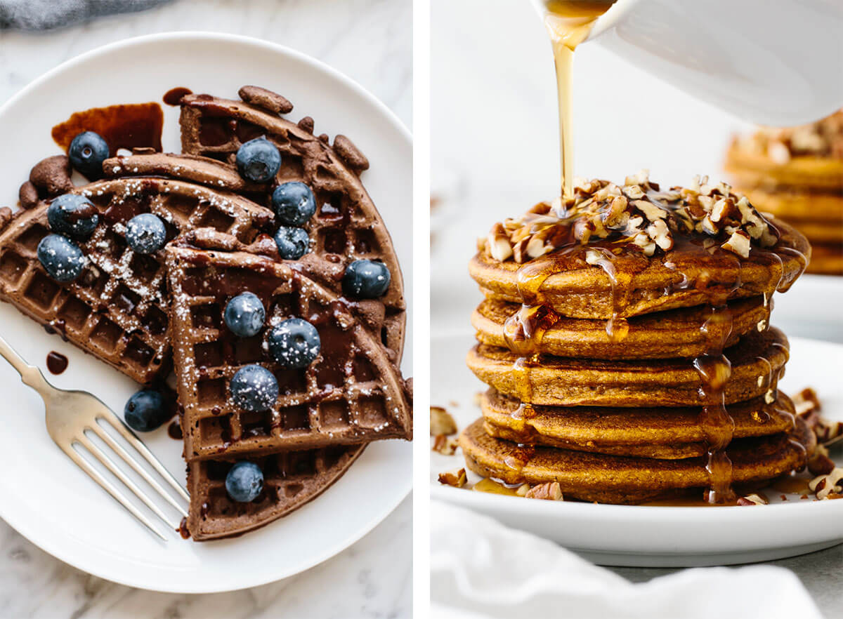 Best breakfast ideas with pancakes and waffles.