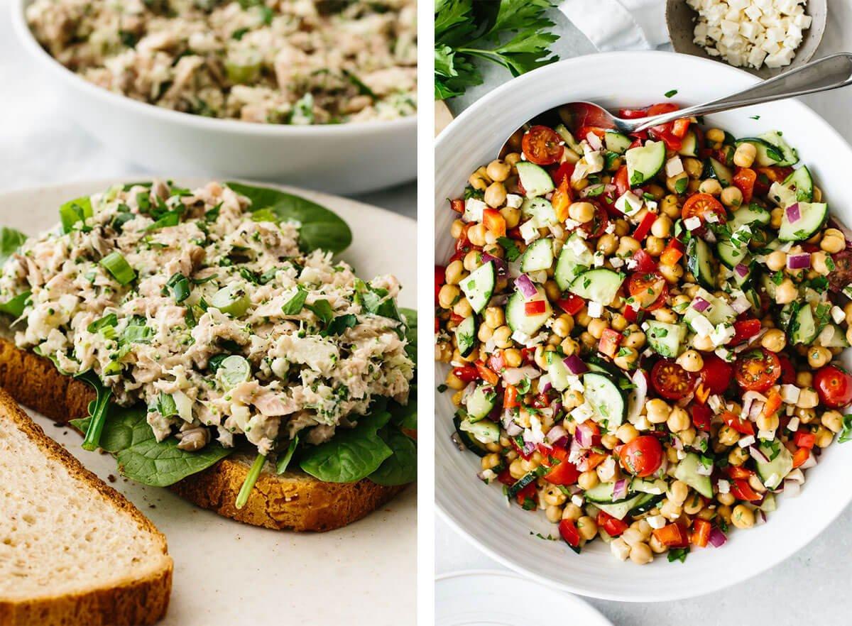 Salad meal prep recipes.