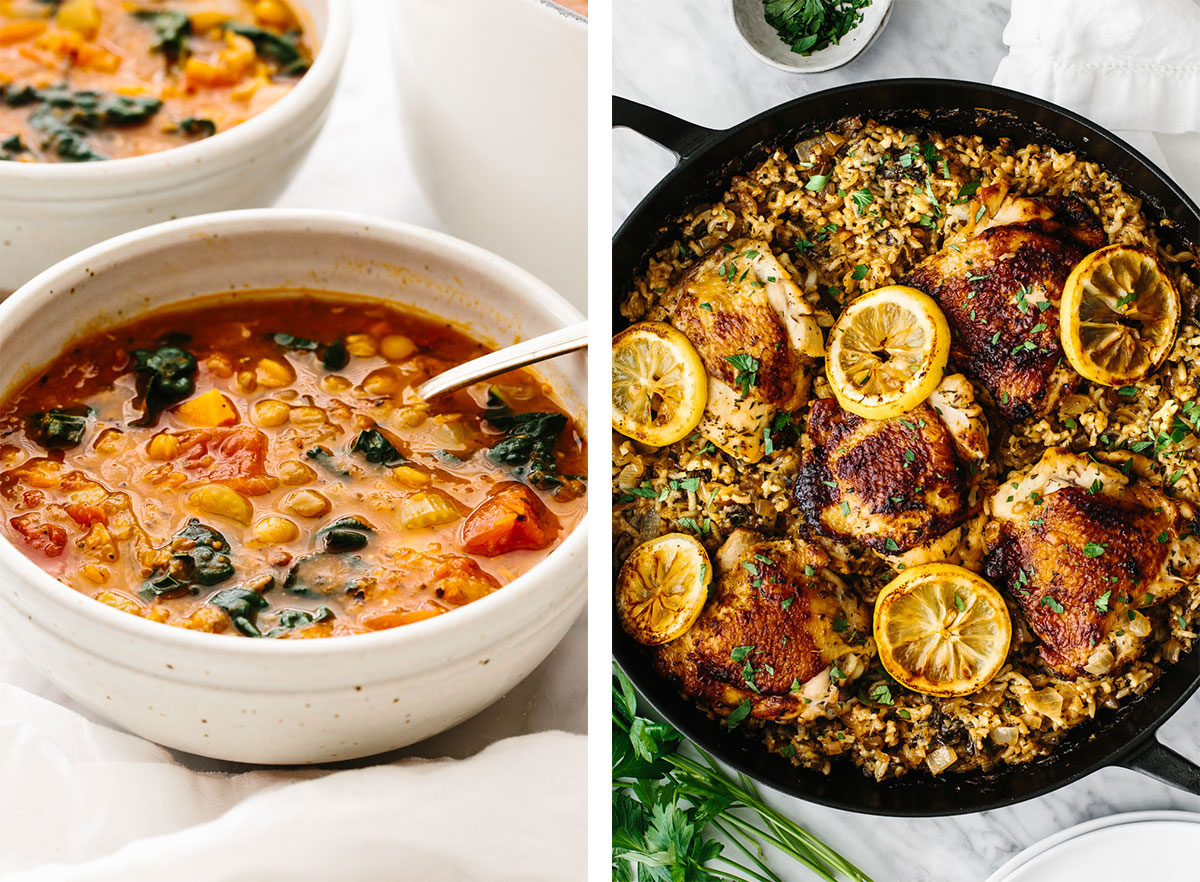 Big batch cooking meal prep recipes.