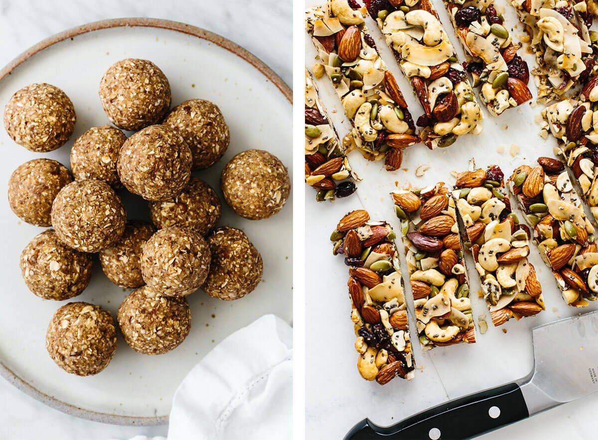 Vegetarian recipes with granola bars