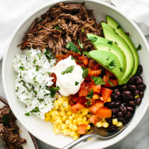Chipotle barbacoa burrito bowl.