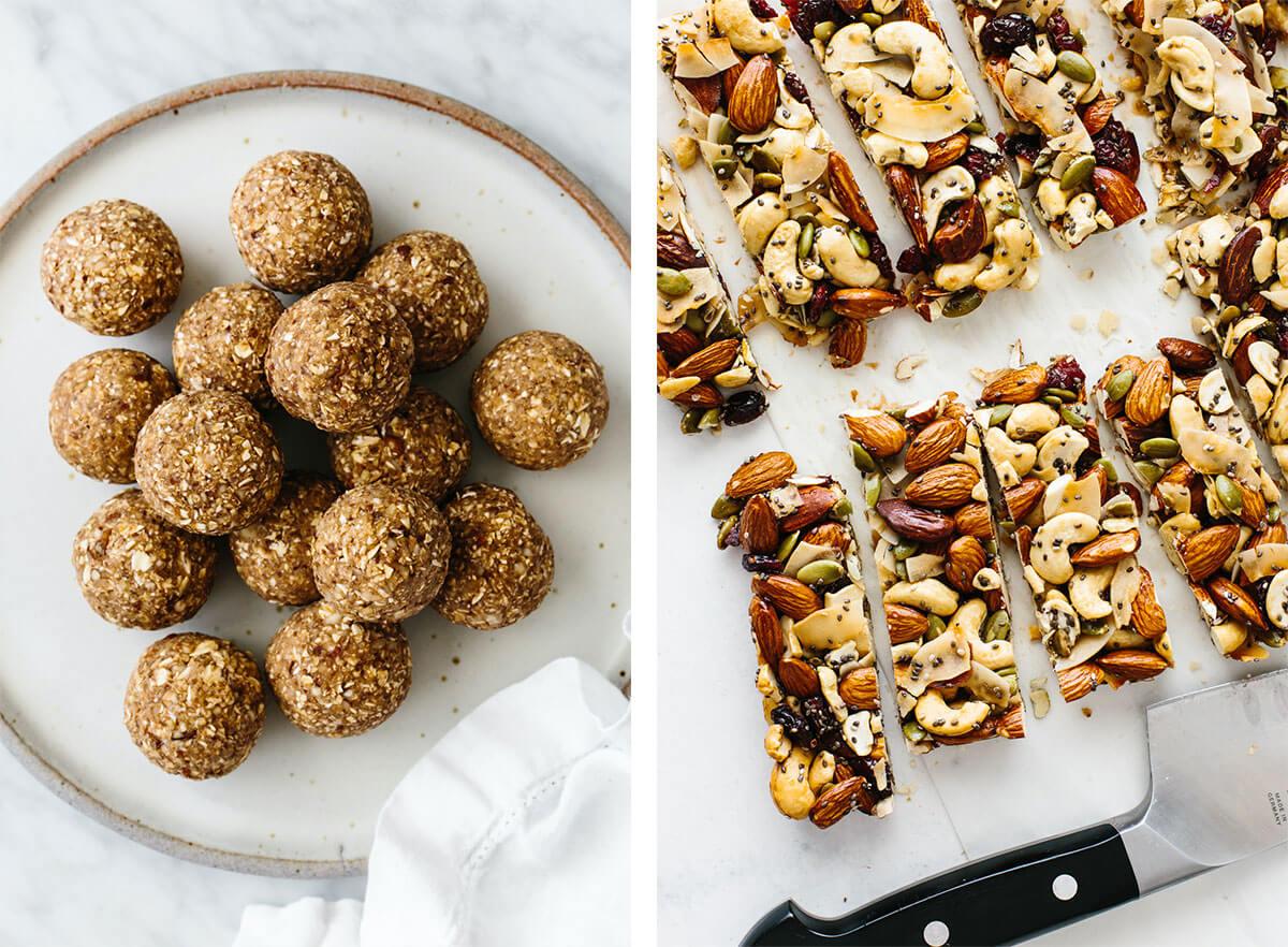 Gluten-free snack recipes with granola bars.