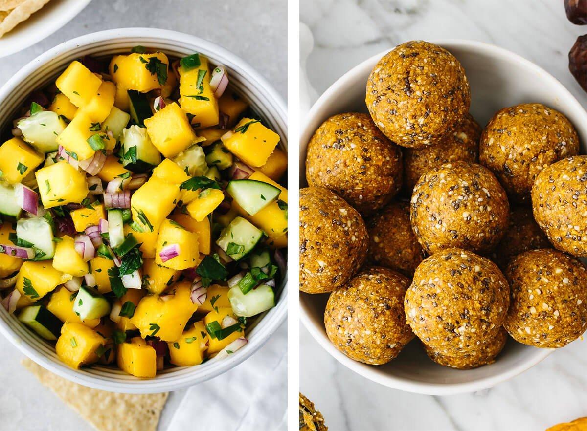 Mango recipes with mango salsa and mango energy balls